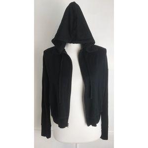 Theory • Black Zip Up Hoodie